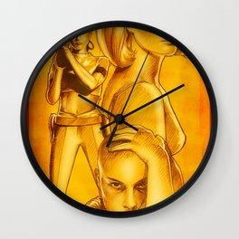 Natalie Portman - Série Ouro Wall Clock