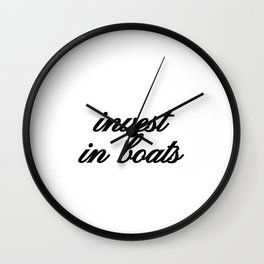 Bad Advice - Invest in Boats Wall Clock