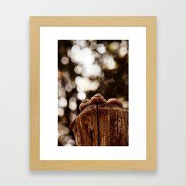 Love is, sharing a pole toghetter.... Framed Art Print