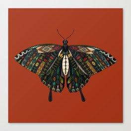 swallowtail butterfly terracotta Canvas Print