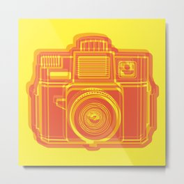 I Still Shoot Film Holga Logo - Yellow & Red Metal Print