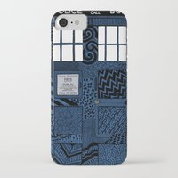 tardis iPhone & iPod Cases featuring Tardis by Rebecca Bear