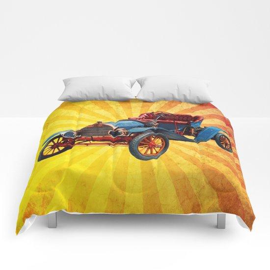 Vintage Car 01 Comforters