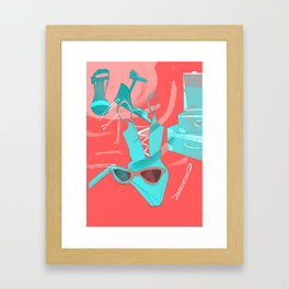 The right mood for the weekend! Framed Art Print