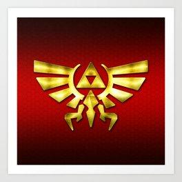 Link Zelda Art Print