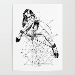 Samael Lilith and the Golden ratio Poster