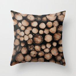Logged Throw Pillow
