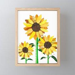 Sunflower Collage Framed Mini Art Print