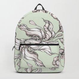 Vintage floral seamless pattern with hand drawn flowering crocus Backpack