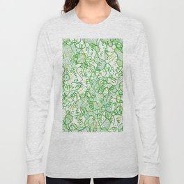 Green on green faces Long Sleeve T-shirt