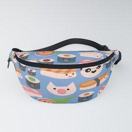 Kawaii sushi blue Fanny Pack