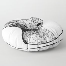 Inside out sphynx cat Floor Pillow