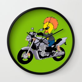 Cool ducky duck motorcyclist Wall Clock
