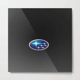 Subaru Carbon Metal Print