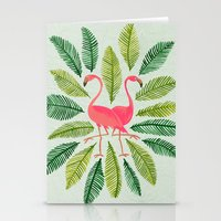 flamingos Stationery Cards featuring Flamingos by Cat Coquillette