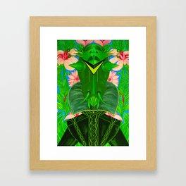 Insectoid: El Hombre Con La Cabeza De Saltamonte Framed Art Print