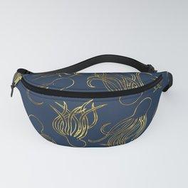 Gold Squid (Indigo) Fanny Pack