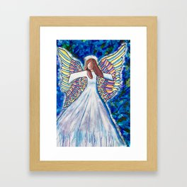 Angel of many colors Framed Art Print