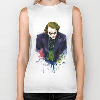 joker Biker Tanks featuring Joker by Lyre Aloise