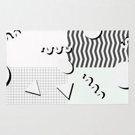 Pale 80s Pattern Rug