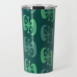 Starburst Bell Peppers Dark Green Travel Mug