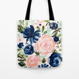 SMELLS LIKE MYSTERY Floral Tote Bag
