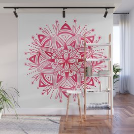 Mandala - Pink Watercolor Wall Mural