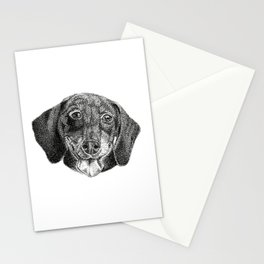 Happy Sausage Dog Stationery Cards