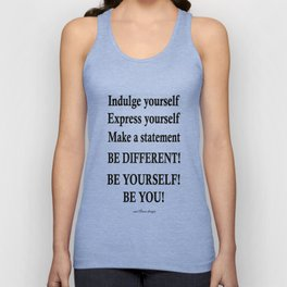 Express yourself! Unisex Tank Top