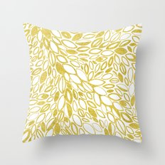 Golden Doodle petals Throw Pillow