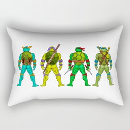 Superhero Butts - Turtles Rectangular Pillow