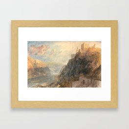 "J.M.W. Turner ""Rheinfels Looking to Katz and Gourhausen"" Framed Art Print"