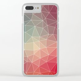 Abstract Geometric Triangulated Design Clear iPhone Case