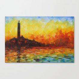 San Giorgio Maggiore at Dusk in Triangles Canvas Print