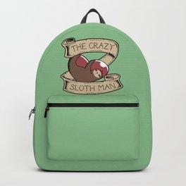 Crazy Sloth Man Tattoo Backpack