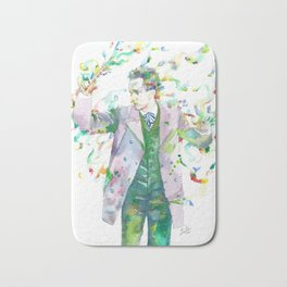 RICHARD STRAUSS - watercolor portrait.1 Bath Mat