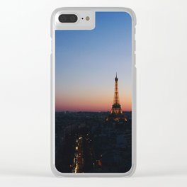 Eiffel Tower By Sunset Clear iPhone Case
