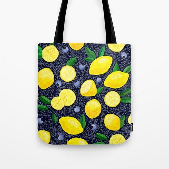 Lemon Blueberry Tart Tote Bag