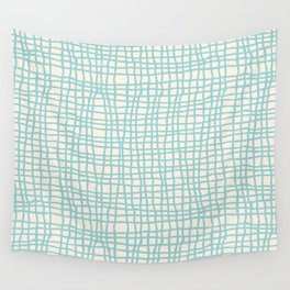 Blue Scribbles Pattern 06 Wall Tapestry