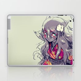 Fox girl sketch Laptop & iPad Skin