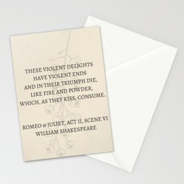 romeo and juliet Stationery Cards