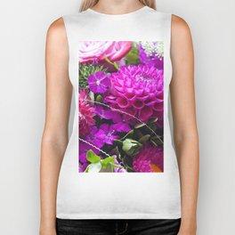 Pink flower bouquet #1 #decor #art #society6 Biker Tank