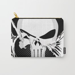 Punisher Skull Within Ripped Fabric Carry-All Pouch