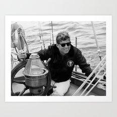 President John Kennedy Sailing Art Print
