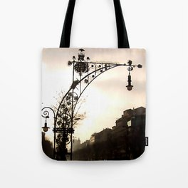 Streetview in Barcelona Tote Bag