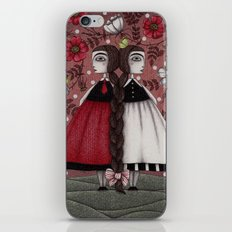 Snow-White and Rose-Red (1) iPhone & iPod Skin