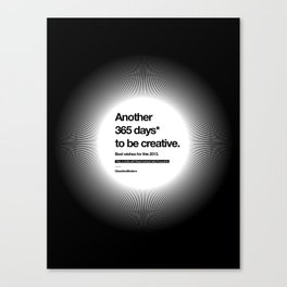 365 Days - White Canvas Print