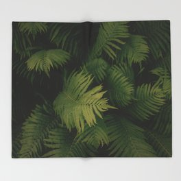 Nature Leaves Throw Blanket