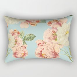 Flora temptation - sky blue Rectangular Pillow