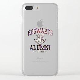 Hogwarts Nebula Clear iPhone Case